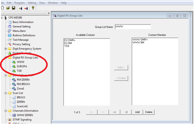 Come si realizza un codeplug per radio DMR – ver  4 0